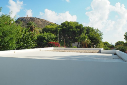 Terraza amplia con vistas bonitas