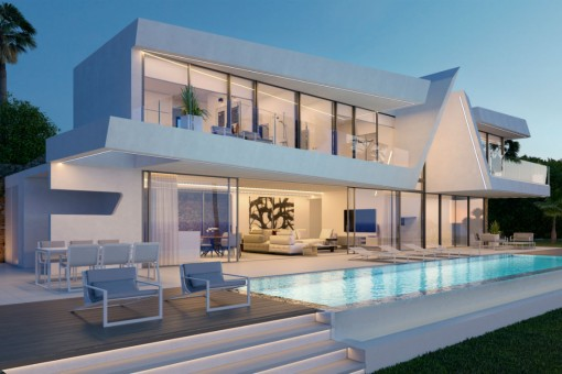 Exclusive newly built villa with seaviews in Moraira, Costa Blanca
